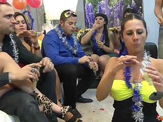 Hardcore orgy party nigh Gigi Love increased by many more sluts