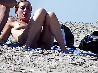 Beautiful mature pussy in the first place the beach