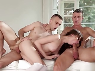 Euro Team of two In the matter of Bisex Threesome