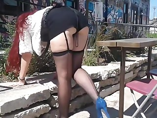 Stockings outdoors