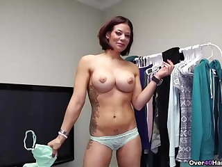 MILF gives a handjob to will not hear of friend in this over 40 handjobs porn clip
