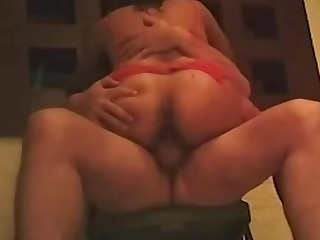 Loud orgasm of my friend on a chair