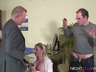 German Election Threesome Orgy After Work Hd Video - cock sucking