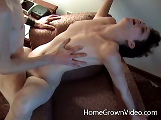 Pocket-sized amateur beside short hair gets fucked in a hotel