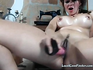 Webcam - Take charge girl with swollen big tits toying pussy