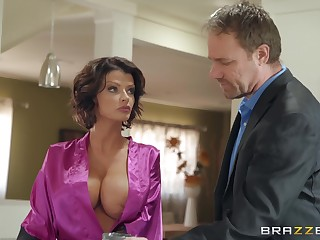 Joslyn James adores when their way lover cum on their way tits after enjoyable sex