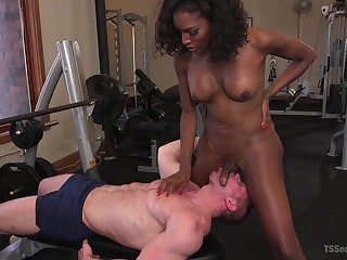 Low-spirited tranny Natassia Dreams adores good sex with her horny lover