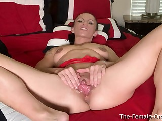 MILF Rubs Huge Clit with the addition of Big Lips Intense Clenching Orgasm