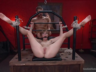 Blondie endures man's cock in brutal XXX BDSM scenes
