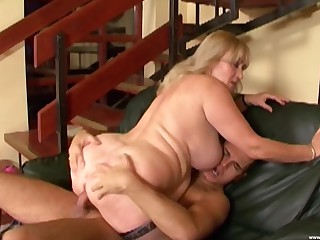 Fat mature leaves the nephew to fuck both their way fat holes