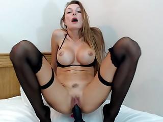 Big Taco Masturbation Girl All round Stockings