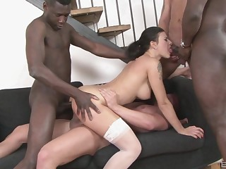 Seductive inclusive ass fucked by multiple black partners