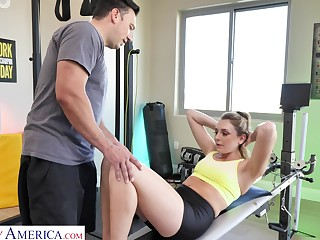 Naughty become man Charlotte Sins is cheating on her retrench with a personal coach