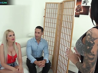 Unforgettable group sex distraction with famous adult models Tiffany Rousso with the addition of Blanche Summer