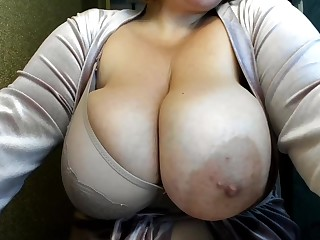 Webcam close up - ugly big tits with really big nipples